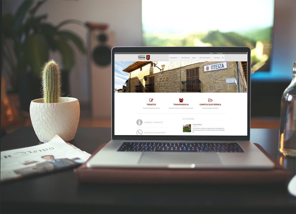 nueva web Ayuntamiento de Oteiza